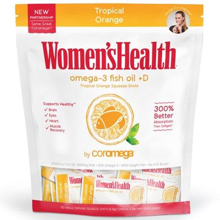 Coromega Omega-3 Squeeze Tropical + D Coromega Omega 3 Supplement Packets Orange