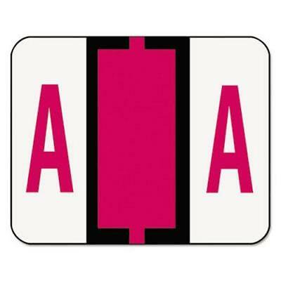 Smead A-Z Color-Coded End Tab Labels, Letter A, Red, 500 Labels (Smead Letter A Labels)