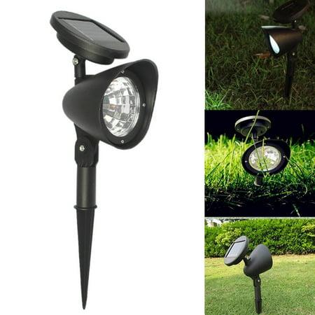 2-in-1 Waterproof 4 LED Solar Spotlight Adjustable Landscape Light Security Lighting Dark Sensing Auto On/Off for Patio Deck Yard Garden Driveway Pool Area Landscaping Deck Designer