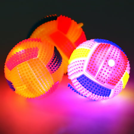 Legendog Pet Puppy Play Ball Elastic Led Light Dog Ball Dental Teething Healthy Teeth Gums Chew Toy Squeaking Toy Interactive Toy for Dogs Cats Small - Ball Chew Dog Toy
