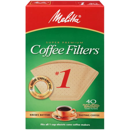 Melitta Natural Brown Cone Coffee Filter, Size 1 - 40 (Melina Mall)