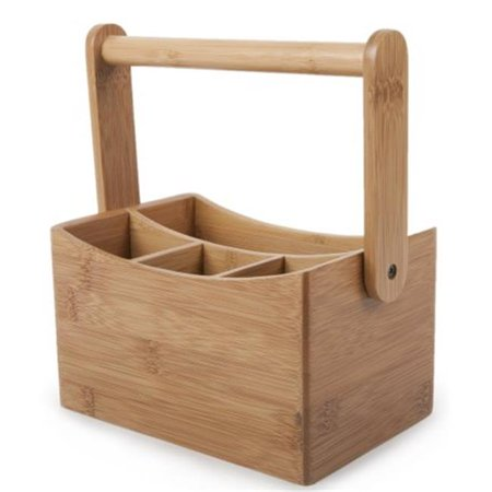 Natural Core Bamboo Cutlery Caddy, 9 x 4.8 x 6.5 in.