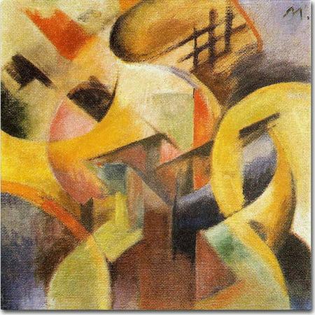 Trademark Fine Art u0022Small Composition I, 1913u0022 Canvas Art by Franz Marc