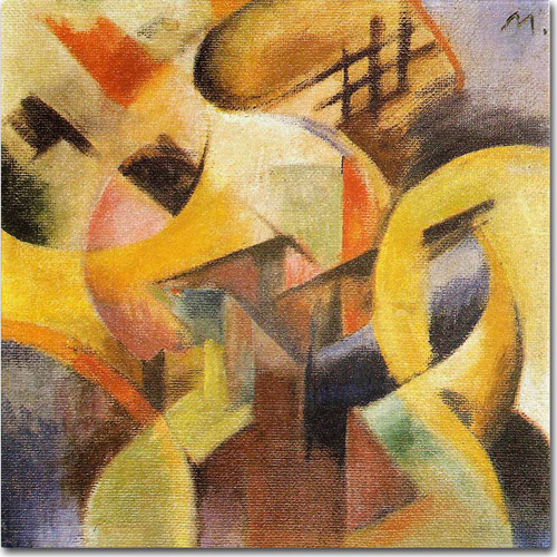 "Trademark Fine Art ""Small Composition I, 1913"" Canvas Art by Franz Marc"