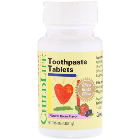Toothpaste Tablets - Childlife Toothpaste Tablets Natural Berry 60 Tablet, Pack of 2