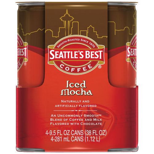 Seattle's Best Coffee Iced Latte Mocha Coffee Drink, 9.5 oz, 4pk