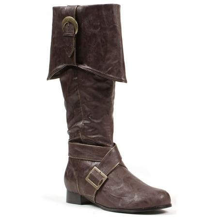 Men's Brown Pirate Boots Deluxe Buccaneer Pirate Boots