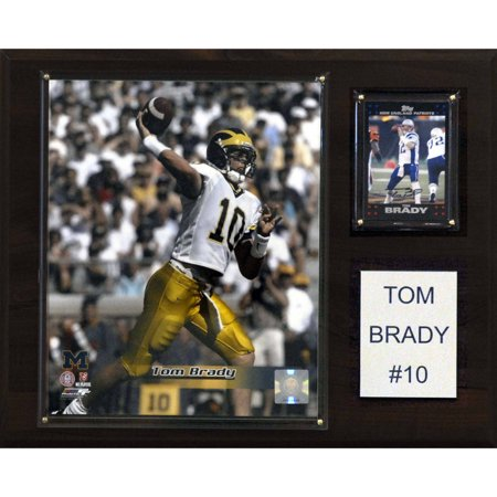 C&I Collectables NCAA Football 12x15 Tom Brady Michigan Wolverines Player Plaque