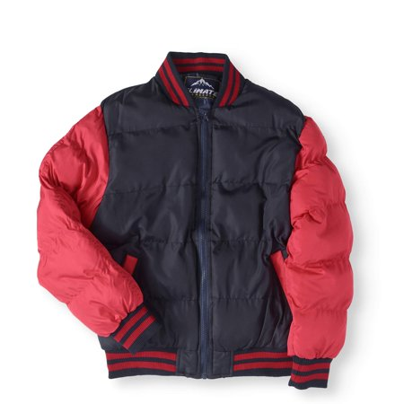 Climate Concepts Boys' Varsity Bubble - Varsity Jackets For Boys