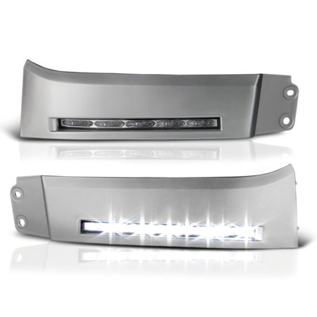 VIPMOTOZ LED Strip DRL Front Bumper Light Driving Lamp Panel For 2007-2013 Toyota Tundra & 2008-2017 Toyota Sequoia - Power Switch & Universal Wiring Included, Driver & Passenger
