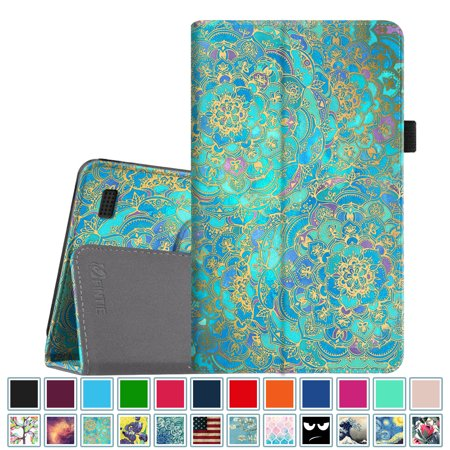 Fintie Folio Case For All New Amazon Fire 7 Tablet   7Th Gen  2017     Slim Fit Pu Leather Stand Cover  Shade Of Blue