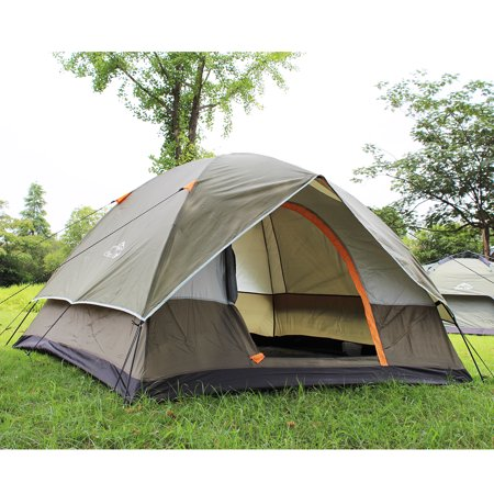 brand new 11d47 3993d Portable 2-4 Person Camping Tent Double Layer Waterproof Anti Snow Travel  Tent for Adventure Outdoor Hiking