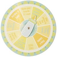 4-Pack Gender Neutral Spin The Bottle Baby Shower Party Game, Yellow, 8 Inches