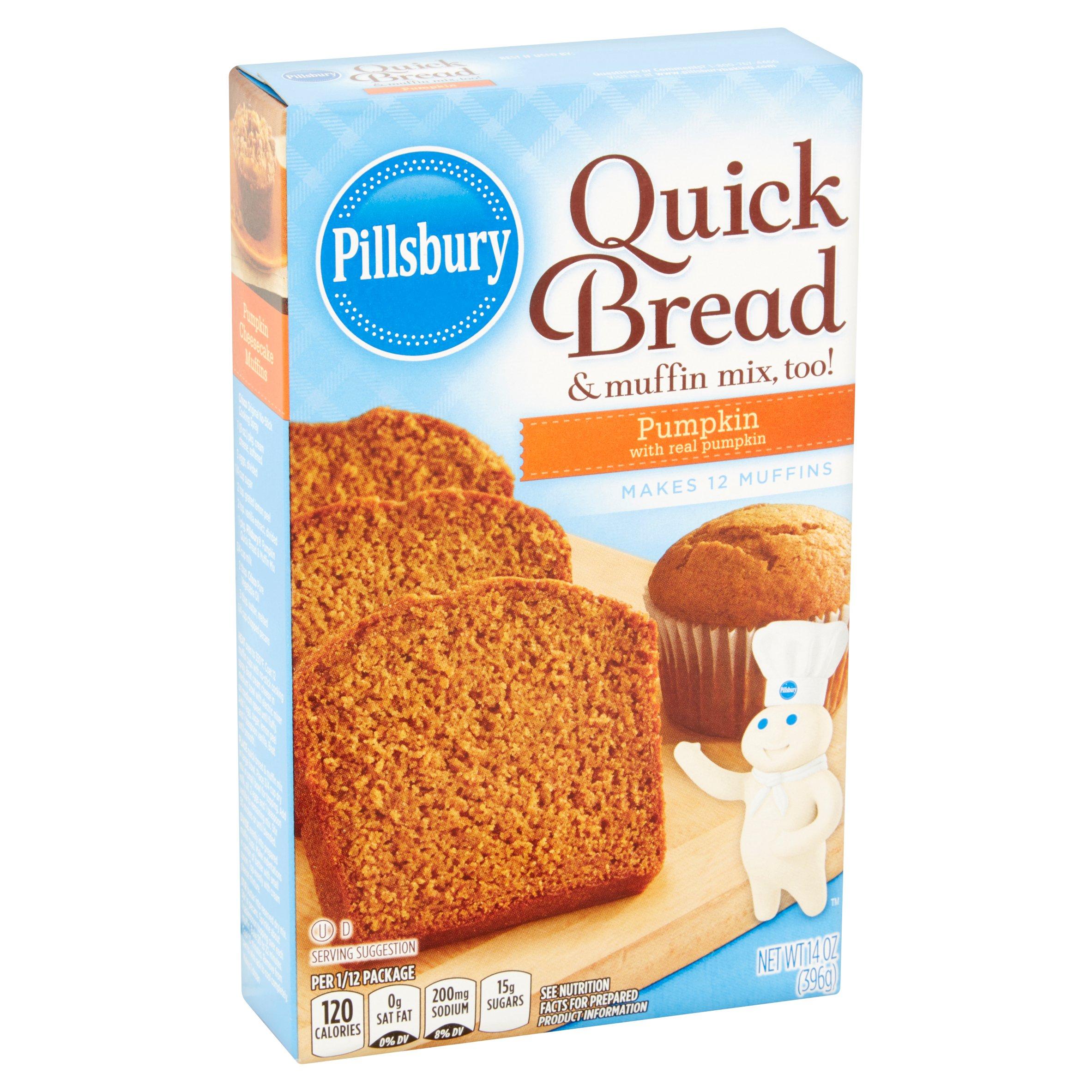 Pillsbury Pumpkin Quick Bread And Muffin Mix 14 Oz Pack Of 3 Walmart Com Walmart Com