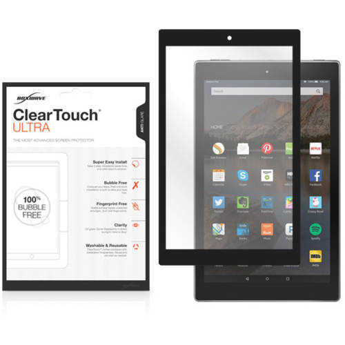BoxWave ClearTouch Ultra Anti-Glare Bubble Free Frame Screen Guard for Amazon Fire HD 10