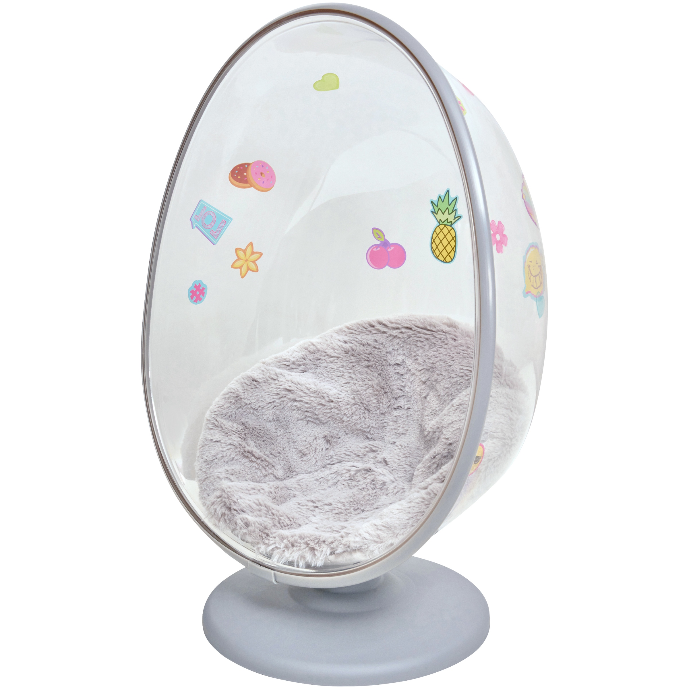My Life As Egg Chair, Translucent Design with Silver Accents, Designed for 18-Inch Dolls