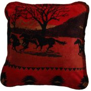 Denali Throws Running Horses Throw Pillow