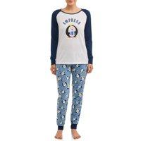 Matching Family Pajamas Women's and Women's Plus 2-Piece Penguin Set