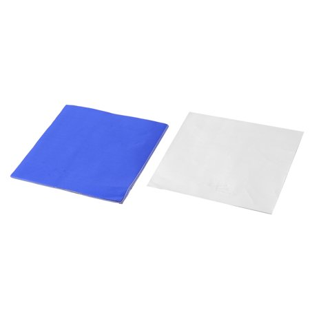 Aluminum Foil Disposable Candy Chocolate Wrapper Royal Blue 4 x 4 Inch - Blue Wrapper Chocolate