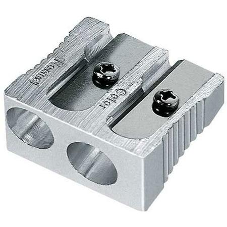 Mobius & Ruppert - Magnesium 2-Hole Sharpener - Art Pencil - Normal/Colored Pencil Double (Magnesium Alloy Sharpener)