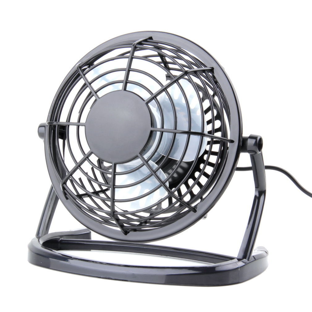 Charmant Mini Metal Table Fan   USB Quiet Desk Fan Retro Design With On/off Switch