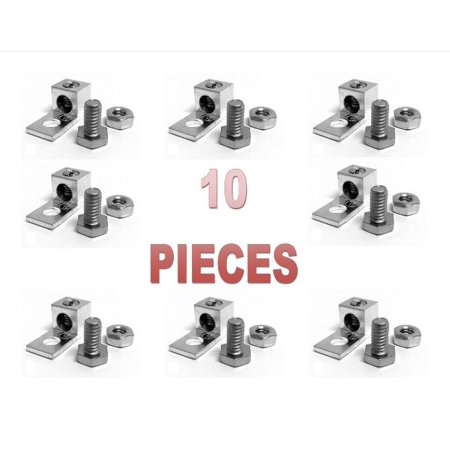 10 PCS P10 Single Aluminum Ground Lug Block Direct TV Satellite UL Listed