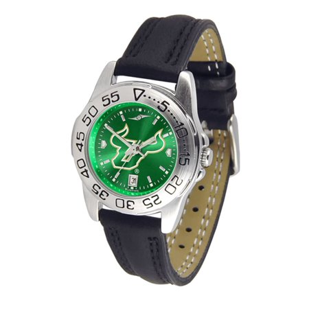 South Florida Bulls NCAA AnoChrome Sport Ladies Watch (Leather (Remix Band South Florida)