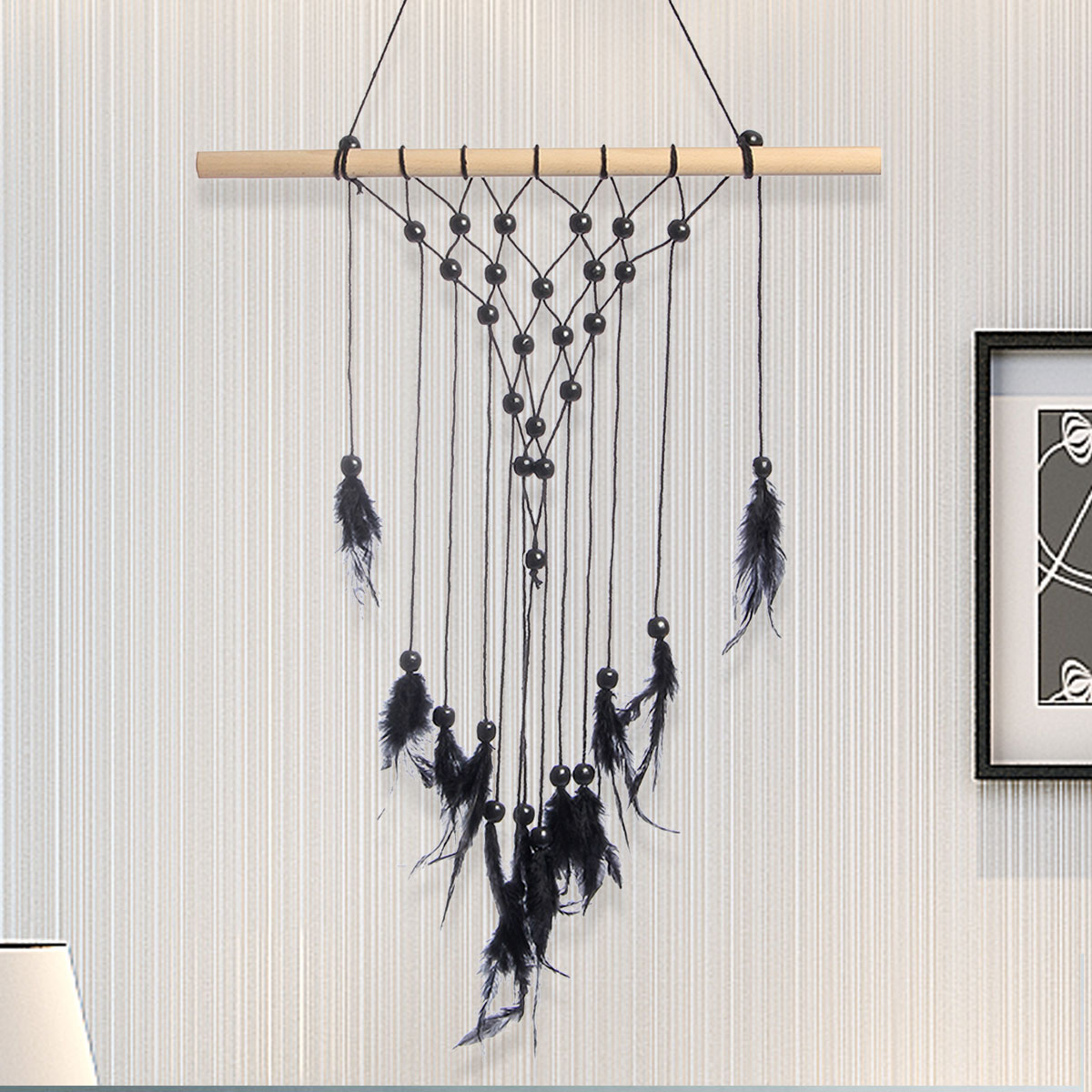 45x80cm Bohemian Macrame Woven Wall Hanging Handmade Tapestry Knitting Home Bedding Room Decor by