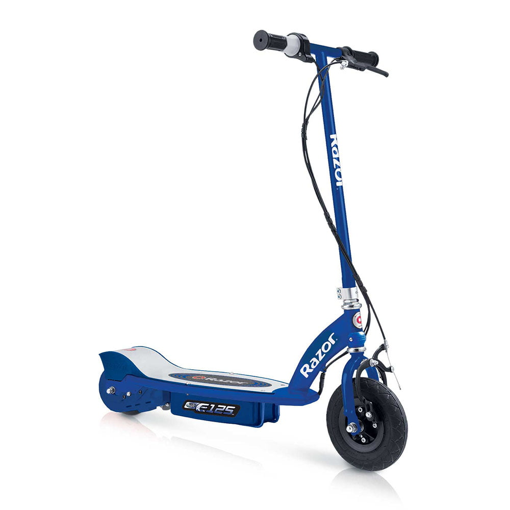 Razor E125 Motorized 24-Volt 10 MPH Rechargeable Kids Electric Scooter, Blue by Razor