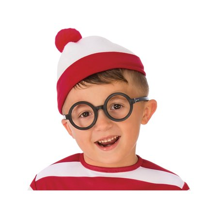 Where's Waldo Deluxe Glasses Halloween Costume (Where's Wally Wenda Costume Large)
