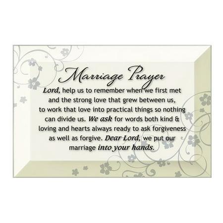 (Dexsa Simple Expressions ''Marriage Prayer'' Textual Art Plaque)