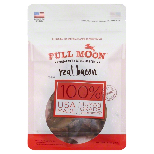 Full Moon Bacon Jerky Pet Treats 2.7oz
