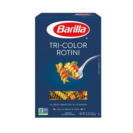 (4 pack) Barilla Pasta Tri-Color Rotini Pasta, 12.0 OZ