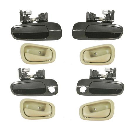 Brand New For  1998-2002  Toyota Corolla Non-Painted and Tan Outside and Inside Door Handle 8PCS 98 99 00 01 -