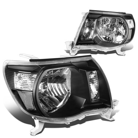 - For 05-11 Toyota Tacoma Headlight Black Housing Clear Corner Headlamp 06 07 08 09 10 Left+Right