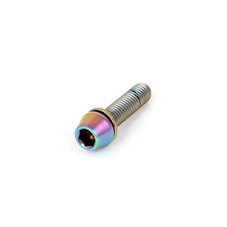 Monitor Clamping Pivot - M5x20mm Titanium Hex Key Screw Stem Clamp V Brake Pivot Washer Taper Head Bolt