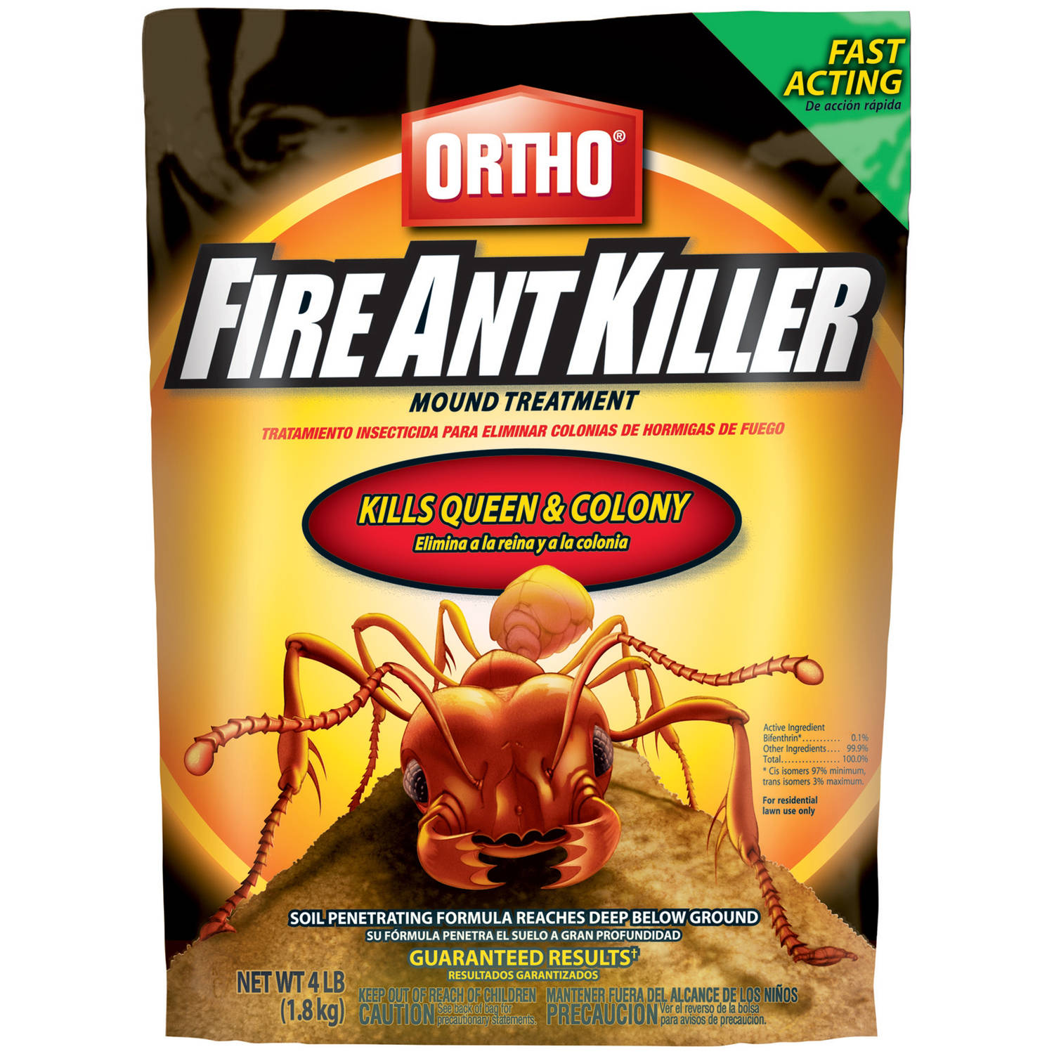Ortho Fire Ant Killer Mound Treatment, 4 lb