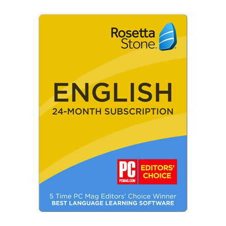 Rosetta Stone® English (American) 24-Month Subscription [Email Delivery] ()