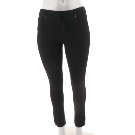 Martha Stewart Knit Denim Pull-On Jeans Drawstring A301080