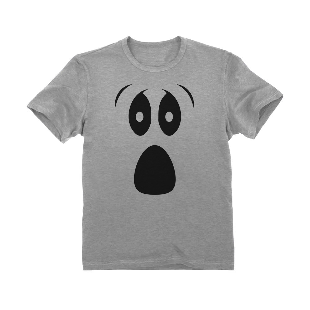 Silly Ghost Face Spooky Halloween Ghoul Face Easy Costume Unisex T-Shirt