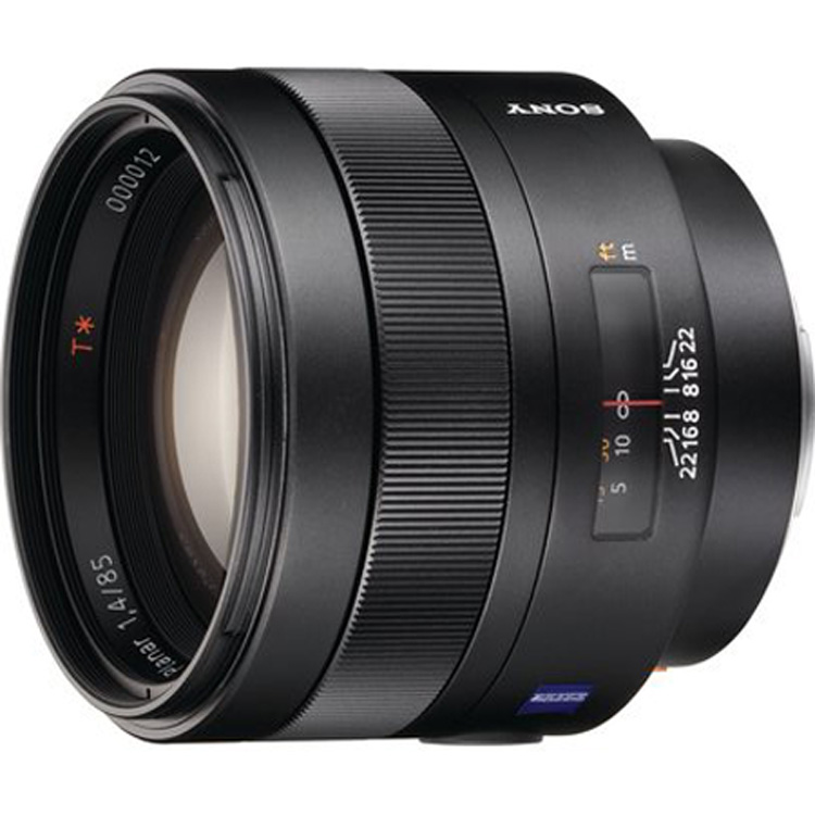 Sony 85mm f/1.4 Carl Zeiss Planar T* A-Mount Lens