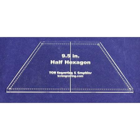 Hexagon Quilt Patterns - Half Hexagon Quilt Template 9.5