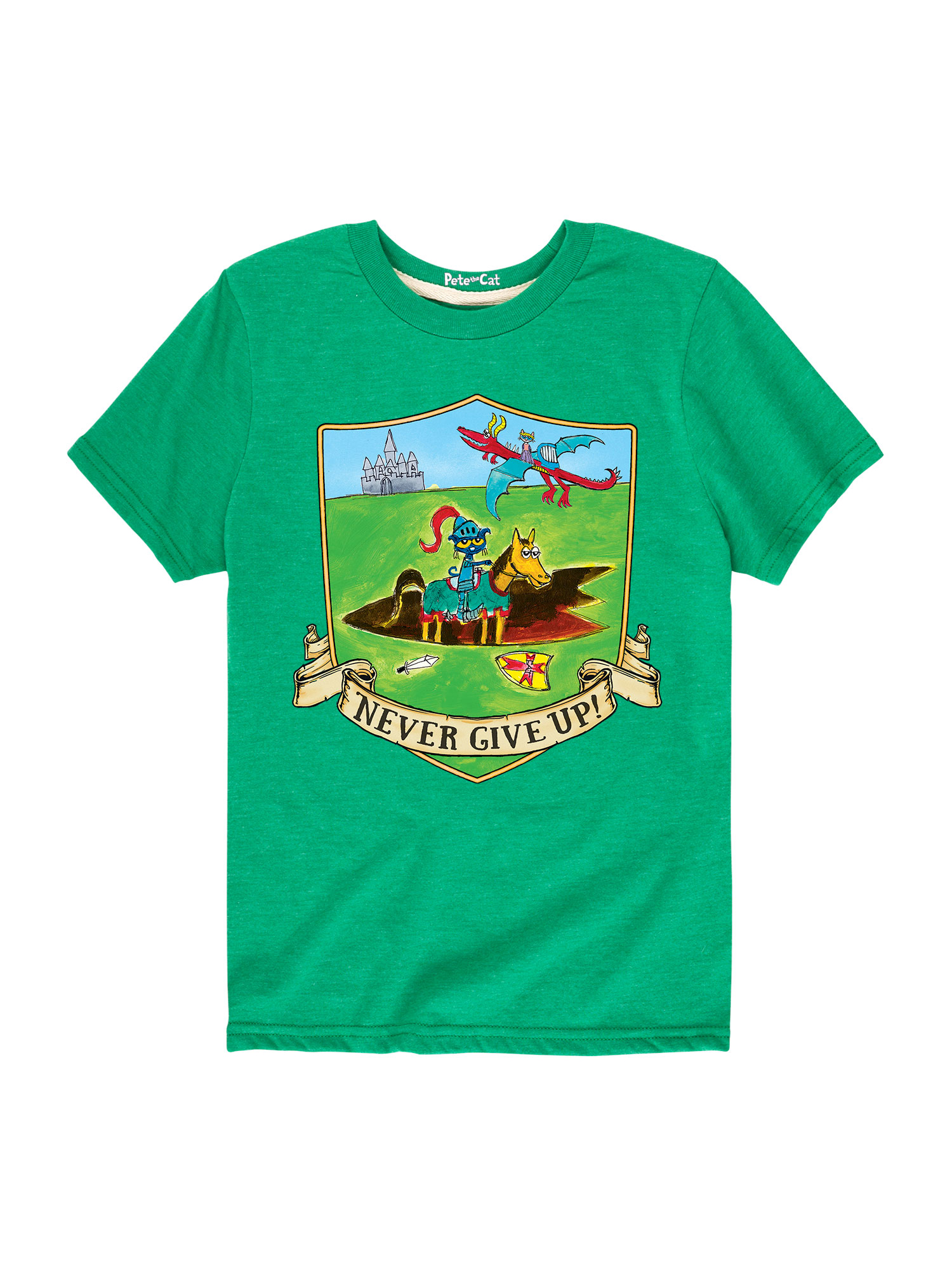 Pete The Cat Never Give Up - Toddler Short Sleeve Tee