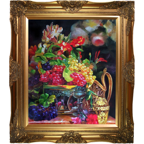 Tori Home Still Life with Grapes by Celito Medeiros Framed Graphic Art Oil Reproduction