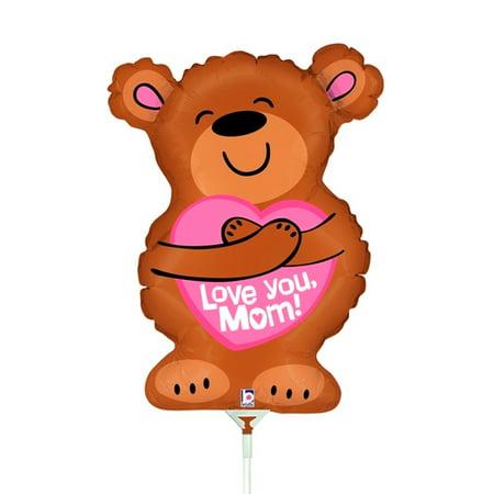 betallic big hug i love you mom happy mother's day mini foil balloon, brown](Happy Mothers Fay)