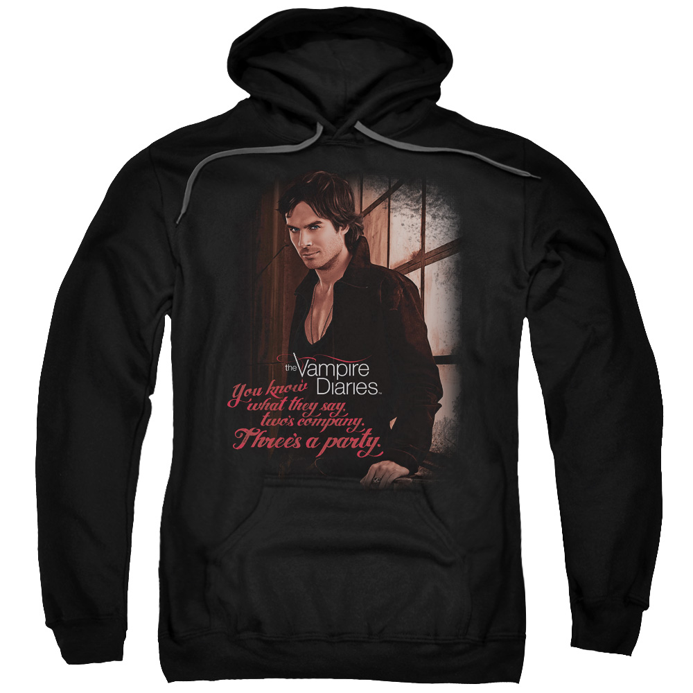 The Vampire Diaries Threes A Party Mens Pullover Hoodie