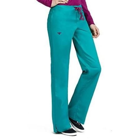Real Sangria - Signature 8705 Women's Back Elastic Scrub Pant Real Teal/Sangria XSP