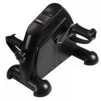 Product Image Black Mini Exercise Bike Cycle Pedal Fitness Arm and Leg Exerciser with LCD Display Cardio Fitness