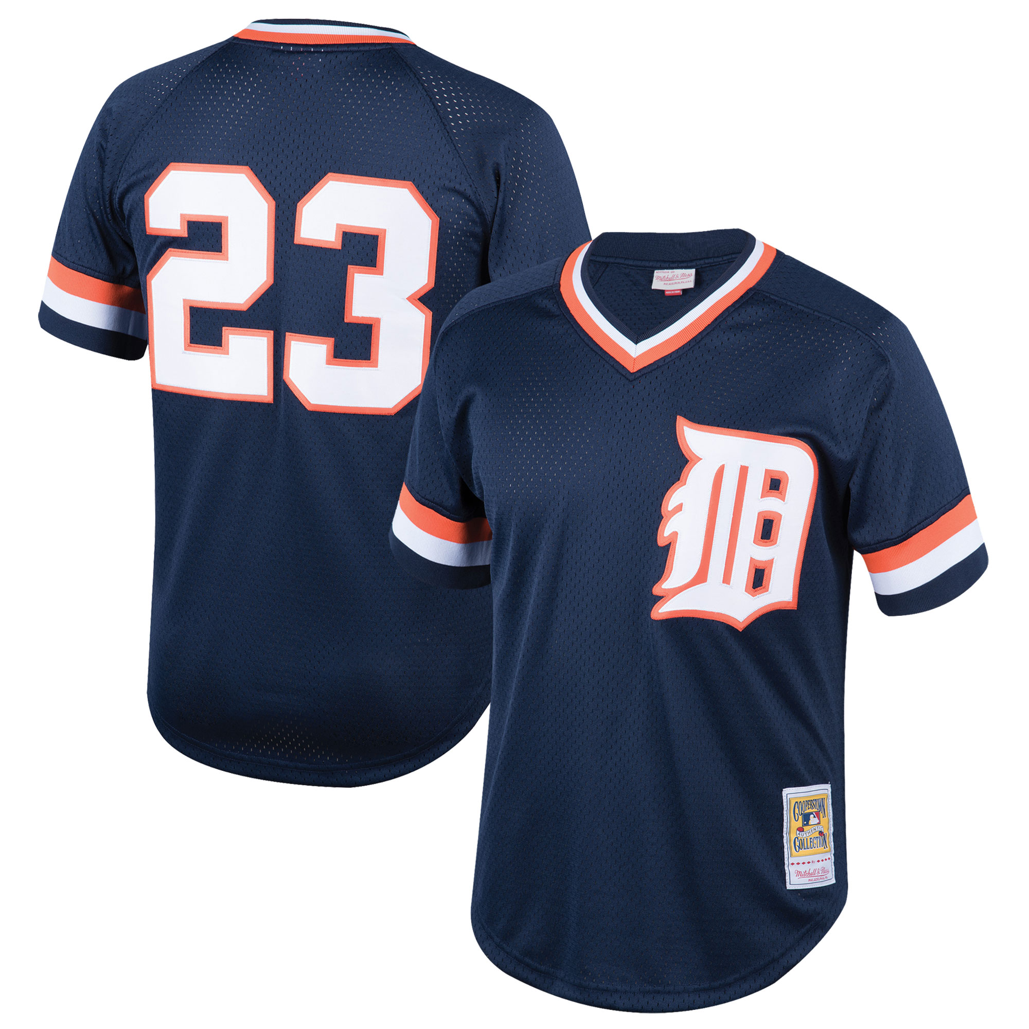 Kirk Gibson Detroit Tigers Mitchell & Ness Youth Cooperstown Collection Mesh Batting Practice Jersey - Navy