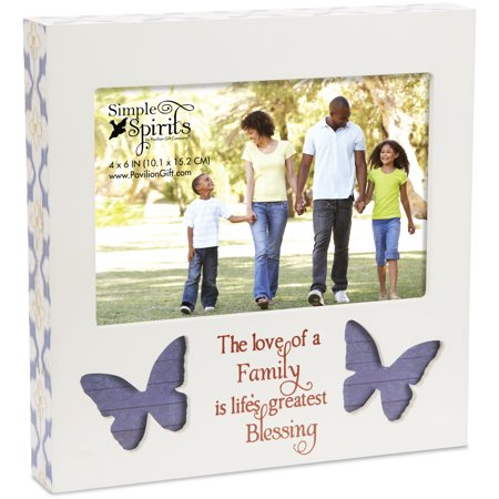 Pavilion - The Love of a Family is Life's Greatest Blessing - Purple Butterfly 4x6 Picture Frame - Butterfly Pavilion Coupon